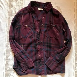 LA Hearts Burgundy Flannel